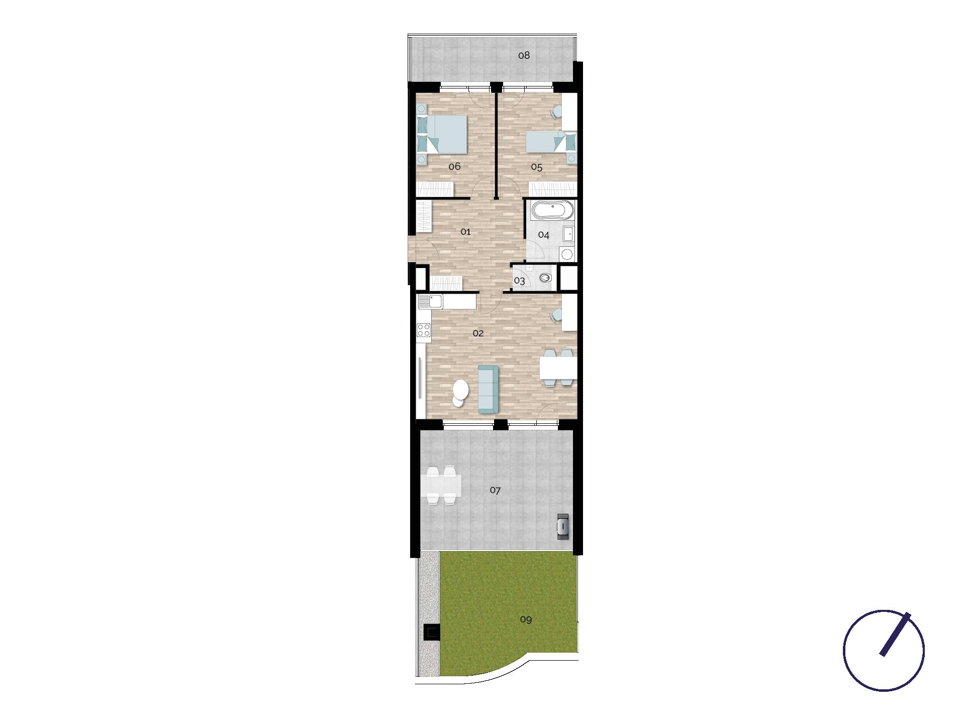 Detail Nemovitosti - Rezidence U Rokytky, Praha 9 1A5 / 1. NP