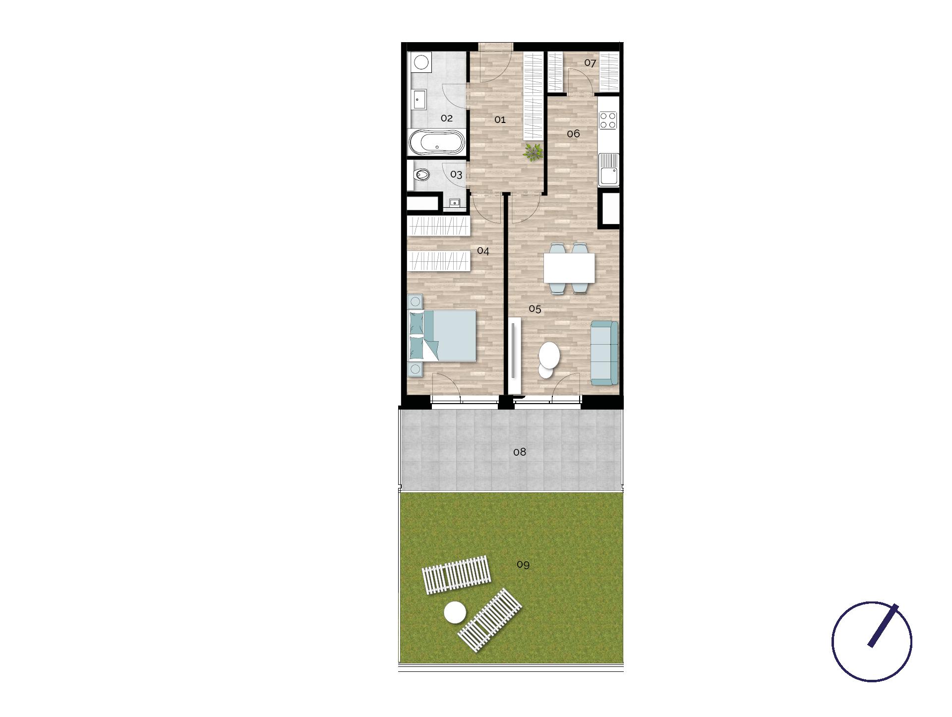 Detail Nemovitosti - Rezidence U Rokytky, Praha 9 1B4 / 1. NP