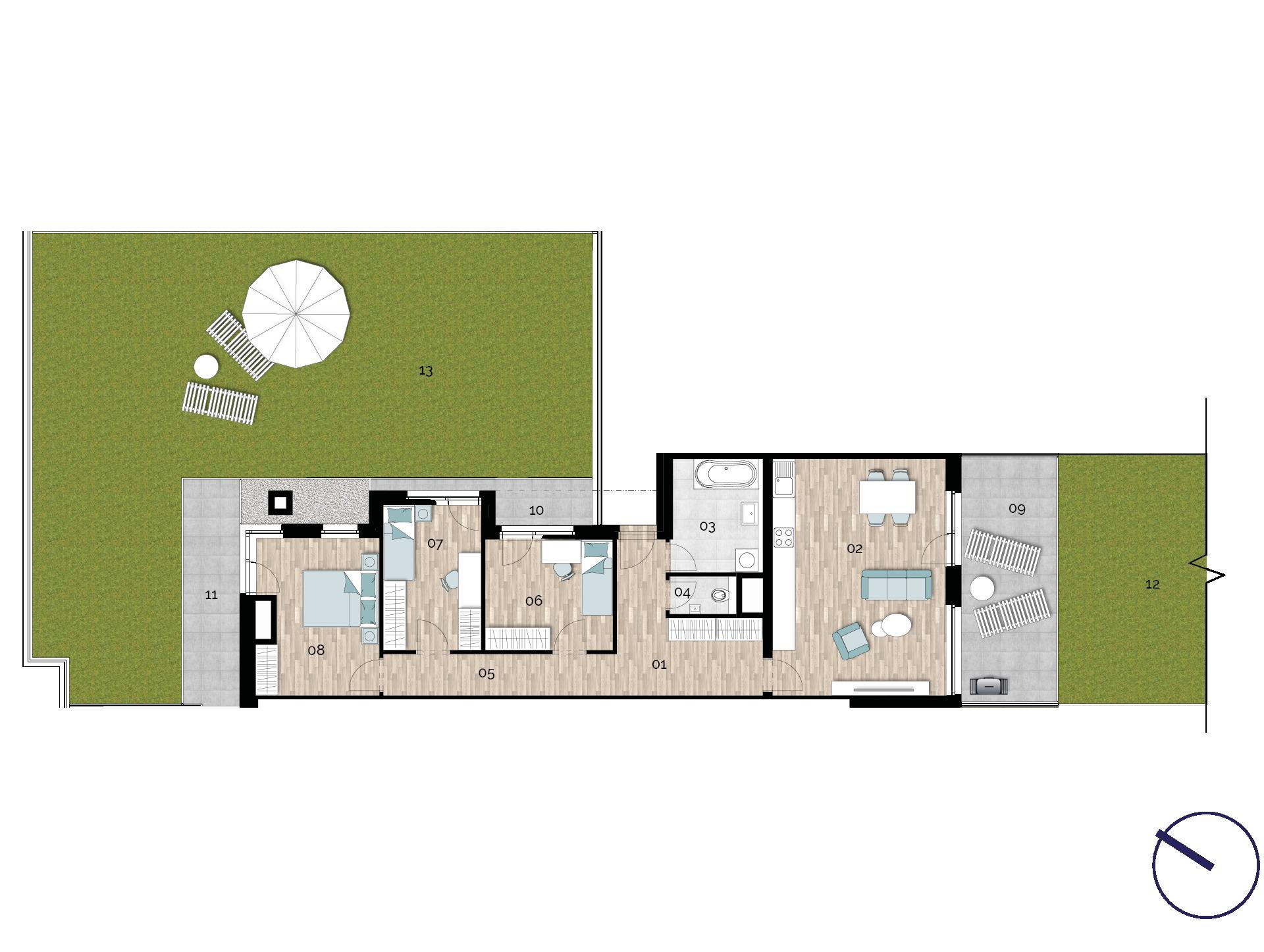 Detail Nemovitosti - Rezidence U Rokytky, Praha 9 1B7 / 1. NP