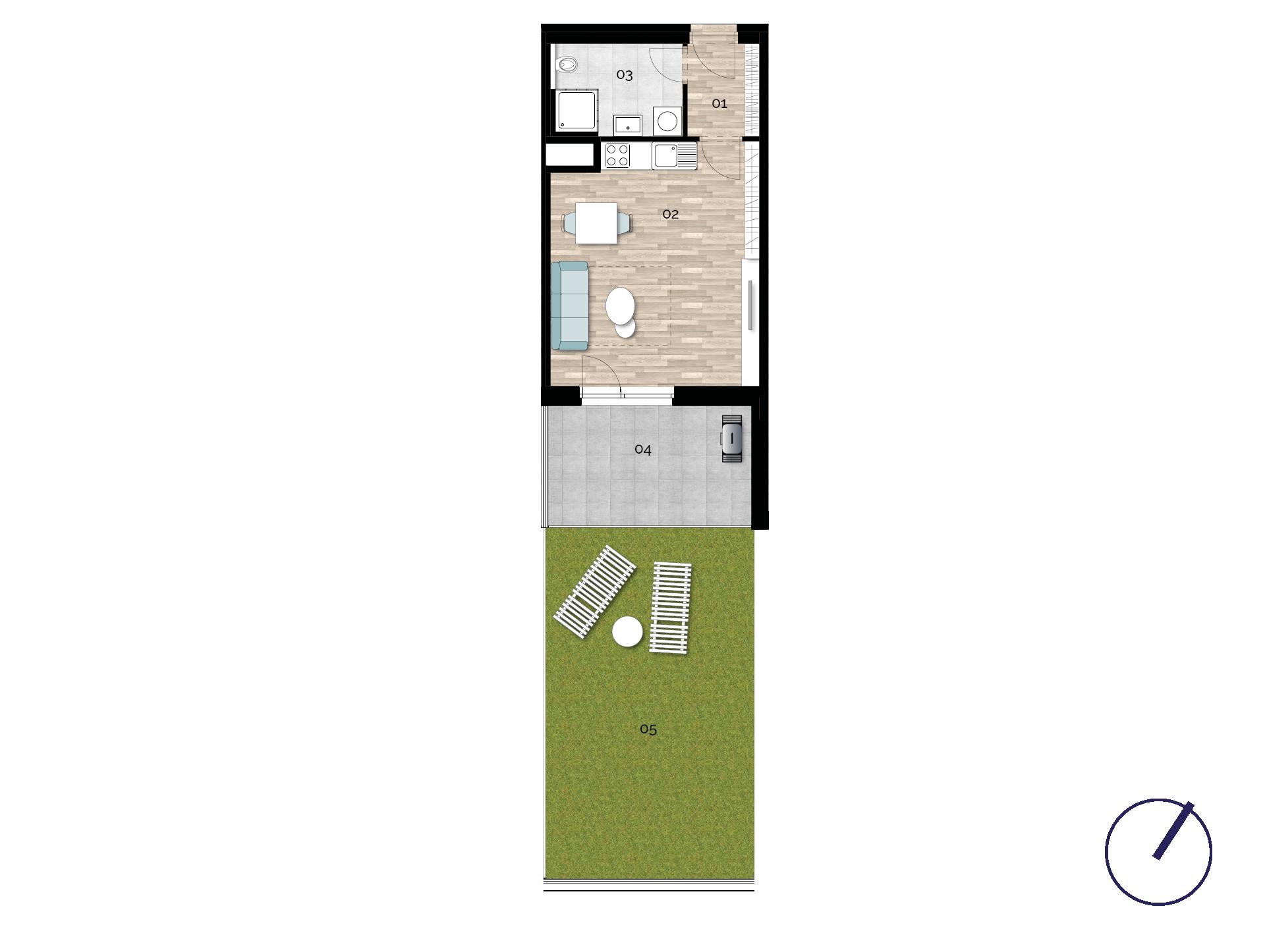 Detail Nemovitosti - Rezidence U Rokytky, Praha 9 1C1 / 1. NP