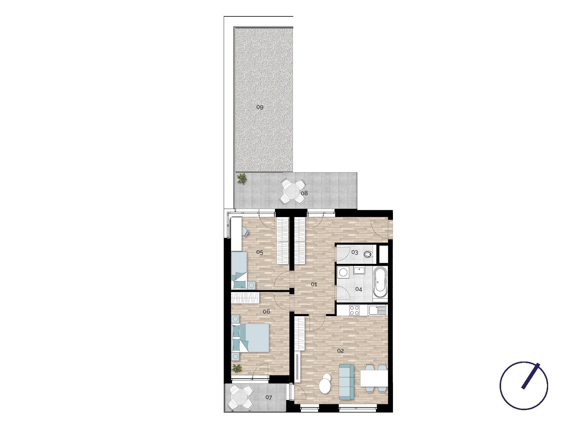 Detail Nemovitosti - Rezidence U Rokytky, Praha 9 2A3 / 2. NP