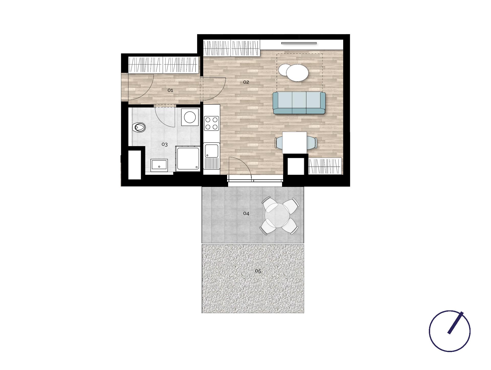 Detail Nemovitosti - Rezidence U Rokytky, Praha 9 2A7 / 2. NP