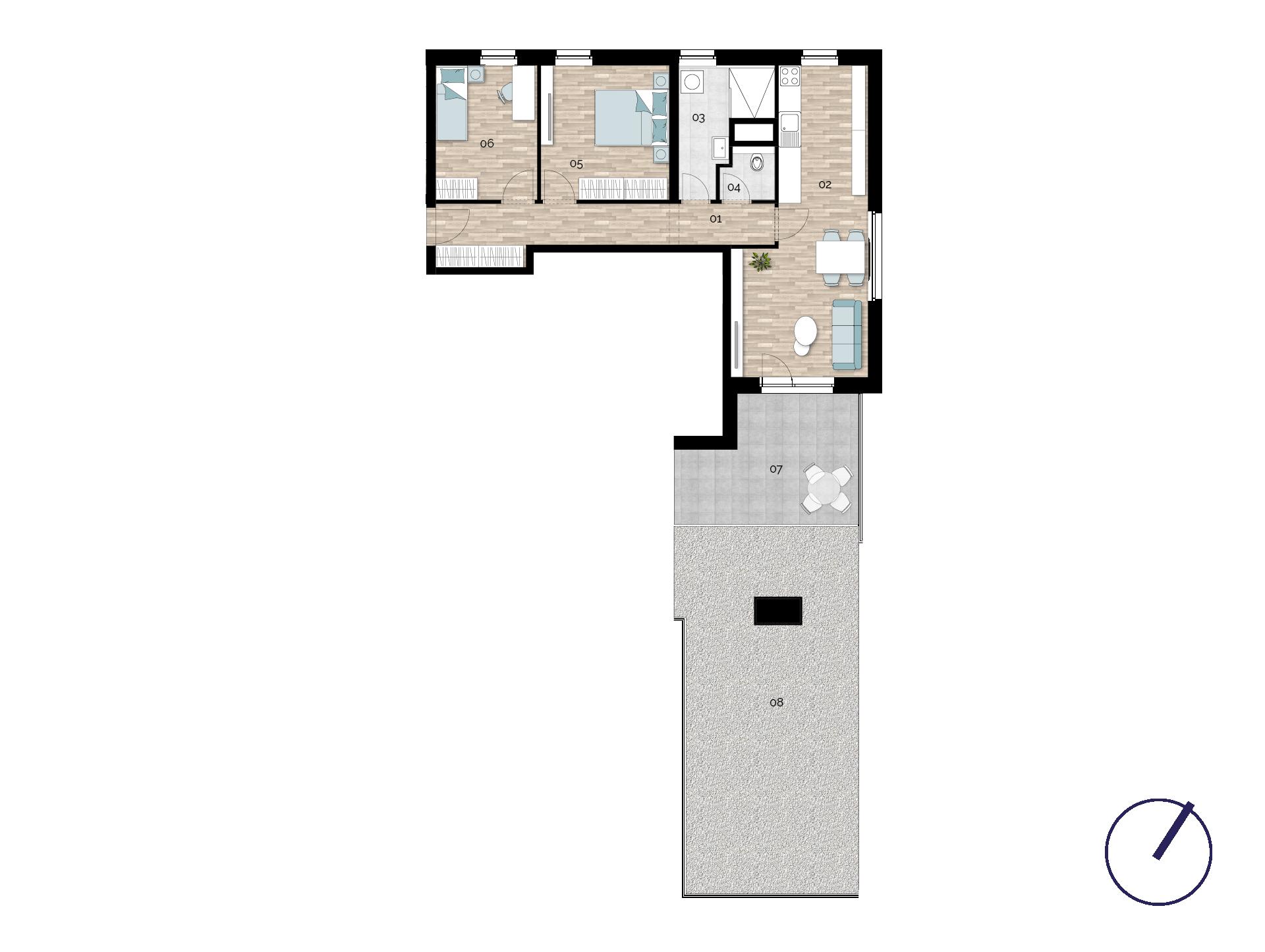 Detail Nemovitosti - Rezidence U Rokytky, Praha 9 2A8 / 2. NP