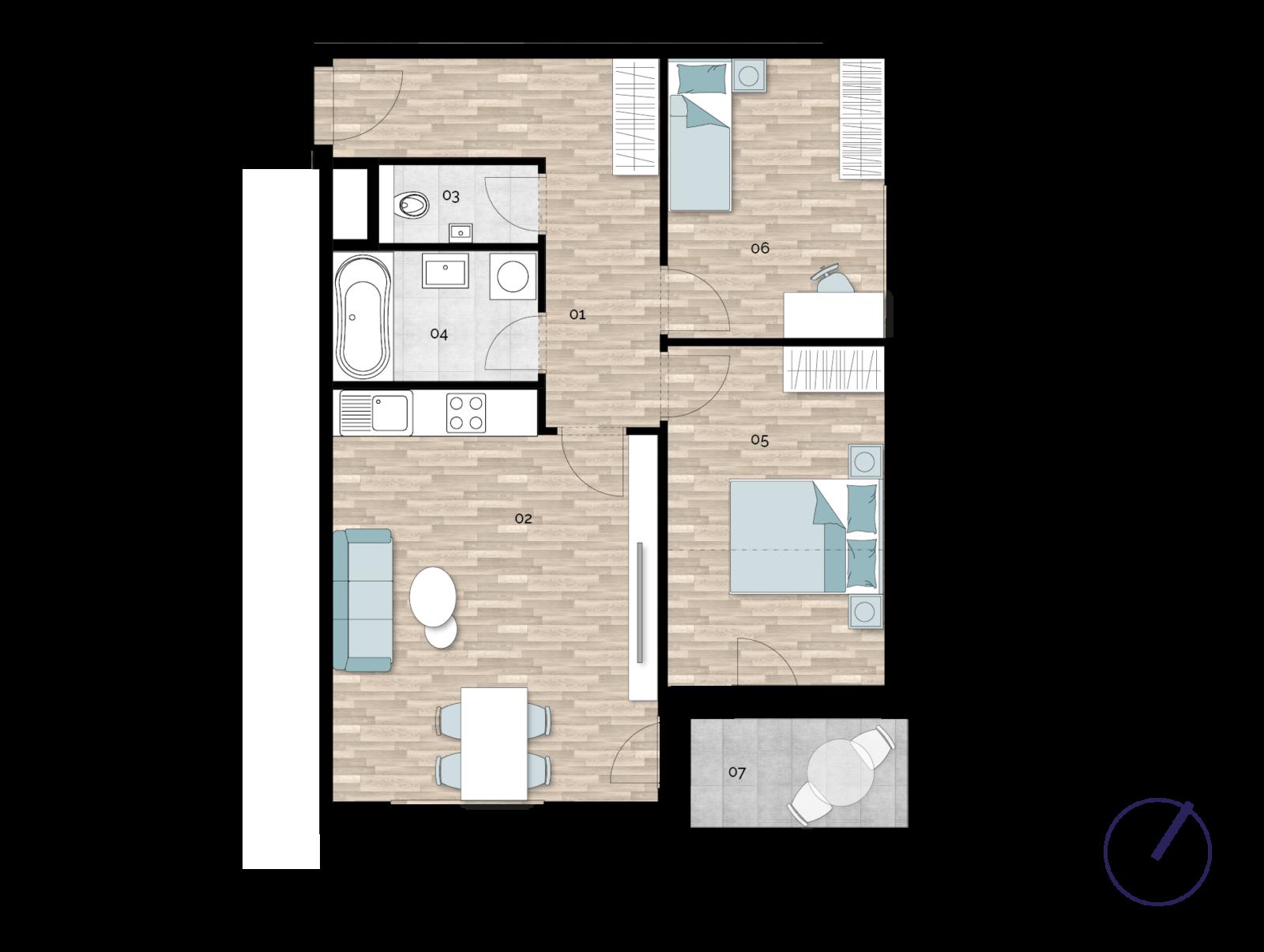 Detail Nemovitosti - Rezidence U Rokytky, Praha 9 3A5 / 3. NP